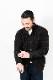 RING JACKET Napoli リングヂャケットナポリ ローゲージ アランセーター スタンドカラーカーディガン【ブラウン/無地】