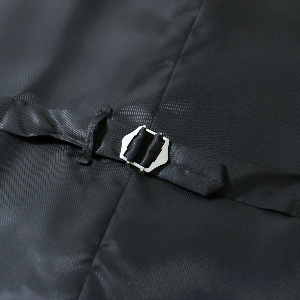 RING JACKET VITALE BARBERIS CANONICO/PERENNIAL 110'S Model V-08 ウール5Bシングルベスト【グレー/無地】