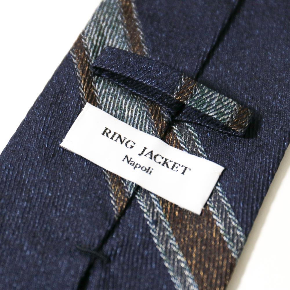 RING JACKET Napoli リングヂャケットナポリ シルクレジメンタルタイ SFODERATA 【ネイビー・グレー・ブラウン】