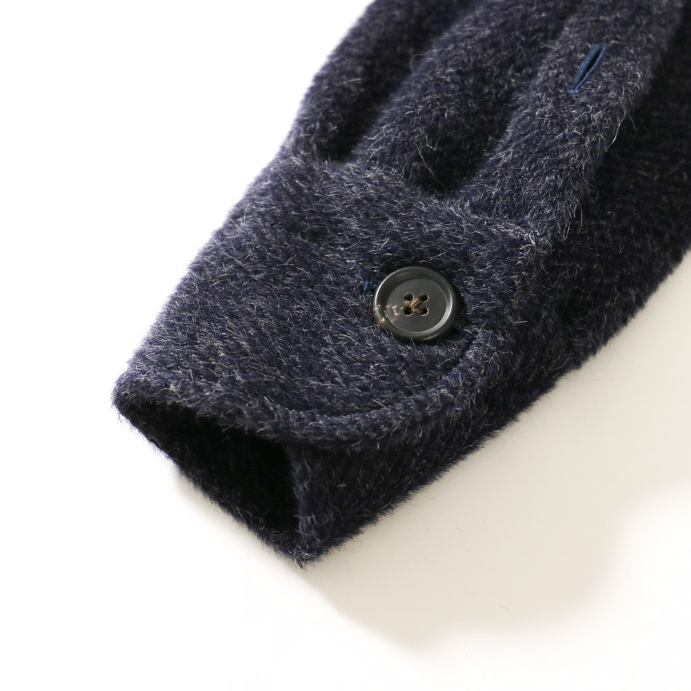 RING JACKET Napoli リングヂャケットナポリ CPO型アルパカシャツブルゾン【ネイビー/無地】