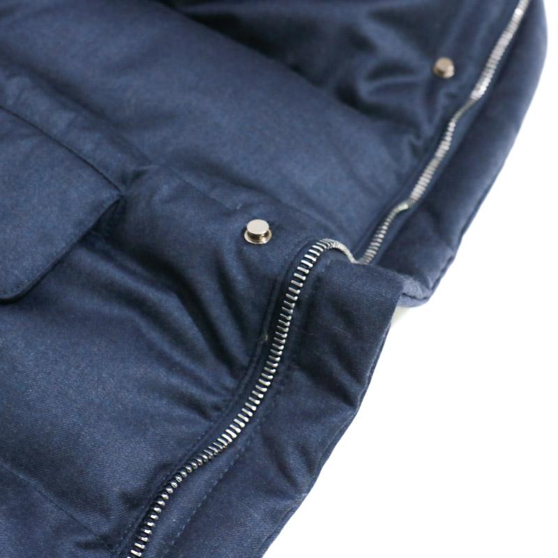 RING JACKET Napoli N3B型 super150'sウールダウンジャケット  【ネイビー 】