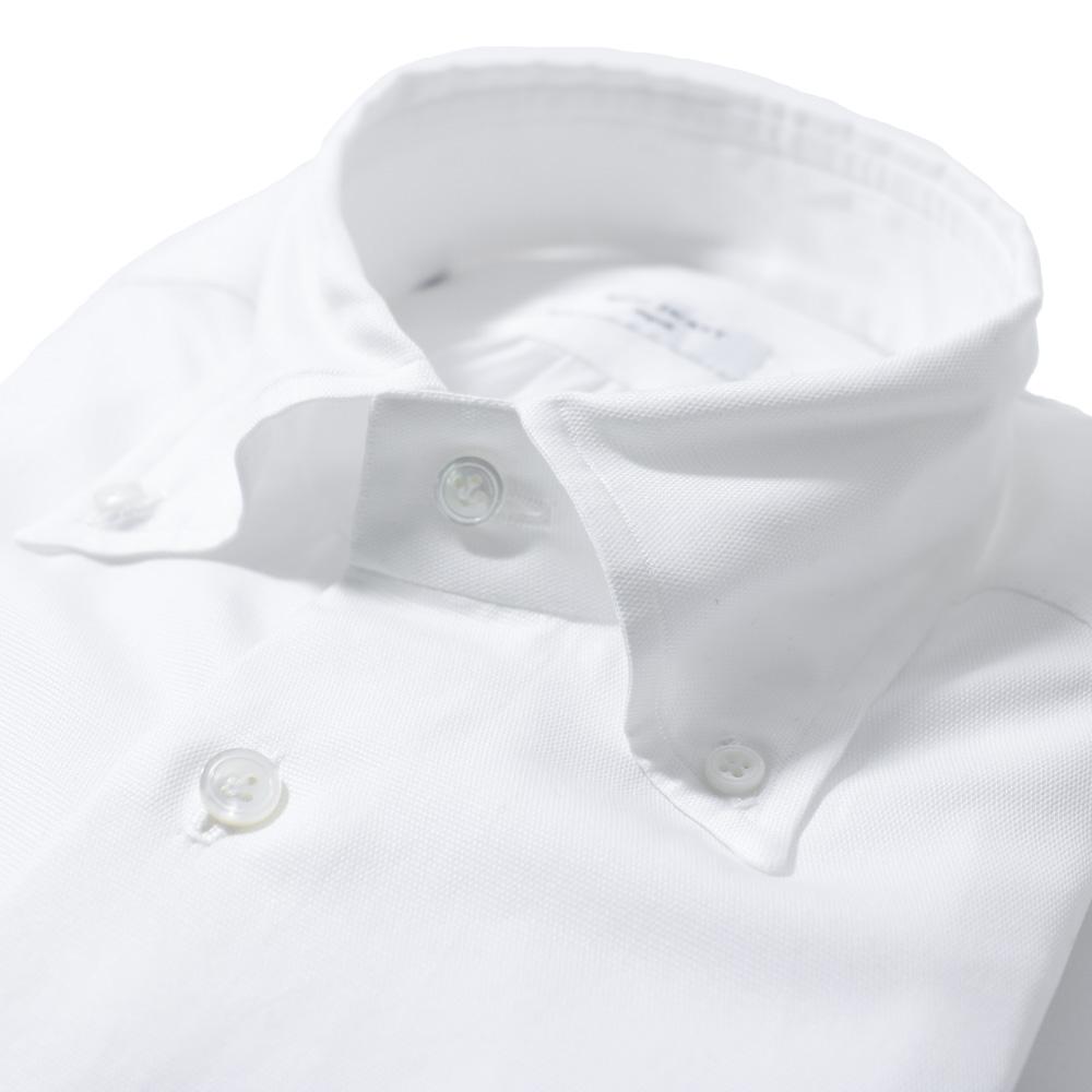 RING JACKET Napoli リングヂャケットナポリ ハンド9工程 CARLO RIVA POPLIN super oxford ボタンダウンシャツ【ホワイト/無地】