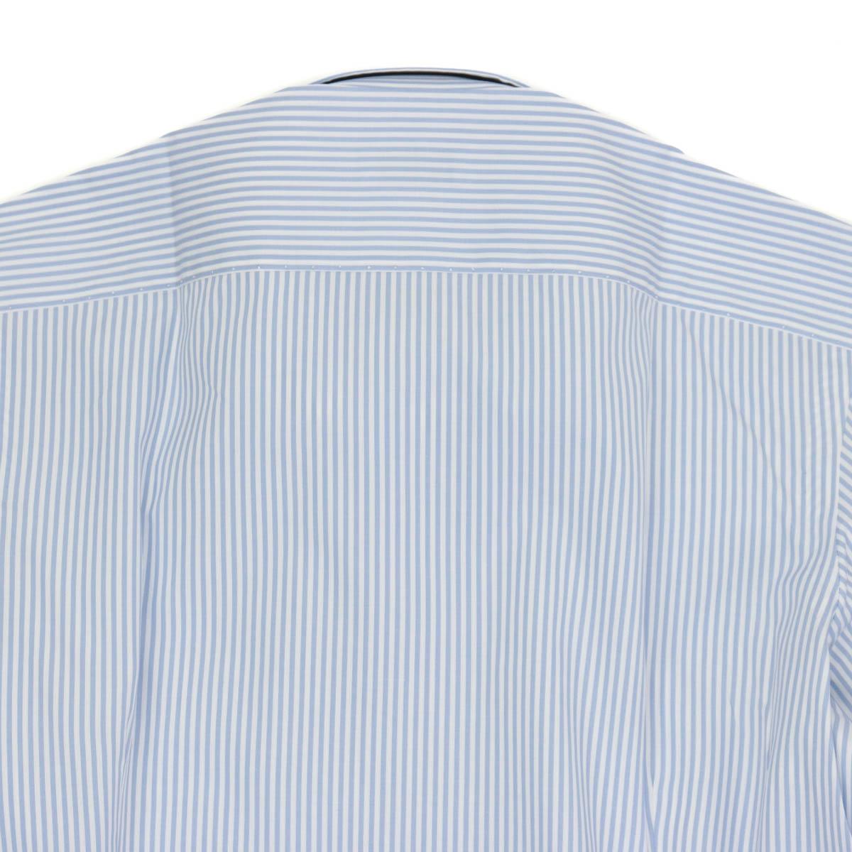 RING JACKET Napoli 12ポイントハンド ピンホールカラーシャツ 【ロンドンストライプ/サックスブルー】