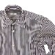 RING JACKET Napoli ロングポイント レギュラーカラーシャツ 【ロンドンストライプ/ネイビー】