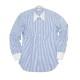 RING JACKET Napoli 9ポイントハンド ラウンドカラー クレリックシャツ 【ストライプ / ブルー】