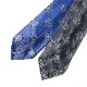 RING JACKET Napoli リングヂャケットナポリ CANEPA シルクジャガードタイ 4pieghe SFODERATA 【ブルー・グレー】