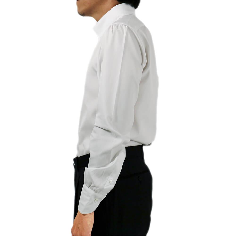 RING JACKET Napoli リングヂャケットナポリ ハンド9工程 OXFORD 80/2×80/2 ボタンダウンシャツ【ホワイト/無地】