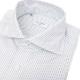 RING JACKET Napoli 12ポイントハンド ワイドカラーシャツ 【オルタ—ネイトストライプ / ネイビー&サックスブルー】
