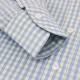 RING JACKET Napoli ショートポイント レギュラーカラーシャツ 【サックスブルー】