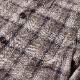 RING JACKET Napoli リングヂャケットナポリ リネン・ナイロン シャツブルゾン【ブラウン/チェック】