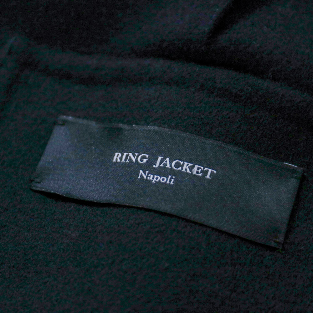 RING JACKET Napoli リングヂャケットナポリ PIACENZA ウール・カシミヤPコート【ネイビー/無地】