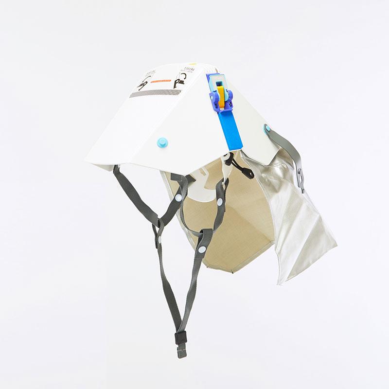 ずきん付き折りたたみ式防災用ヘルメット!タタメットズキン 3★「3Dヘッドバンド」採用!国家検定合格品