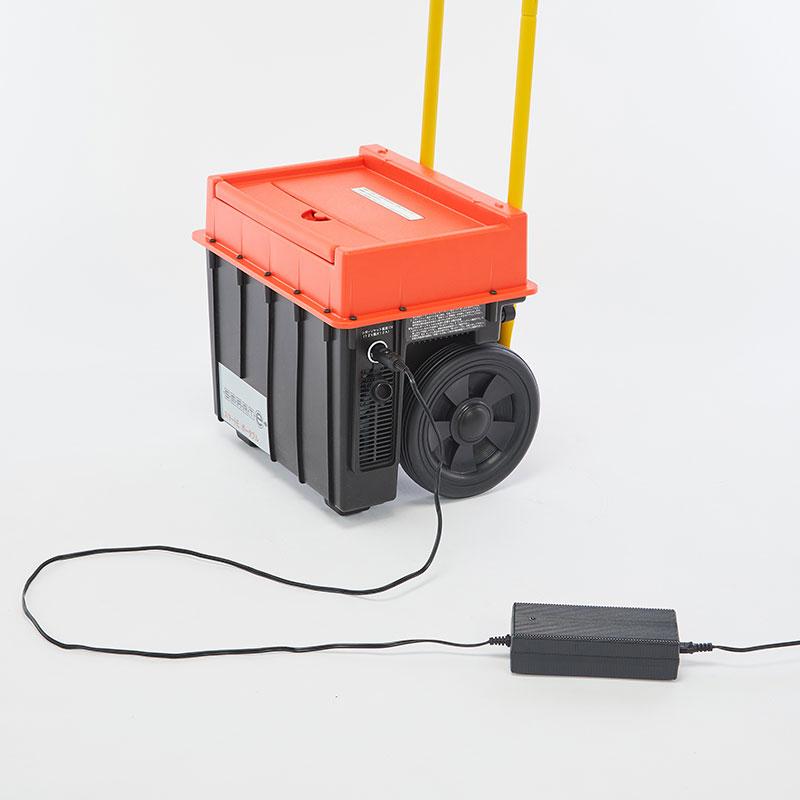 大型キャスター付き小型蓄電池!スマートEポータブル★災害時による停電対策に