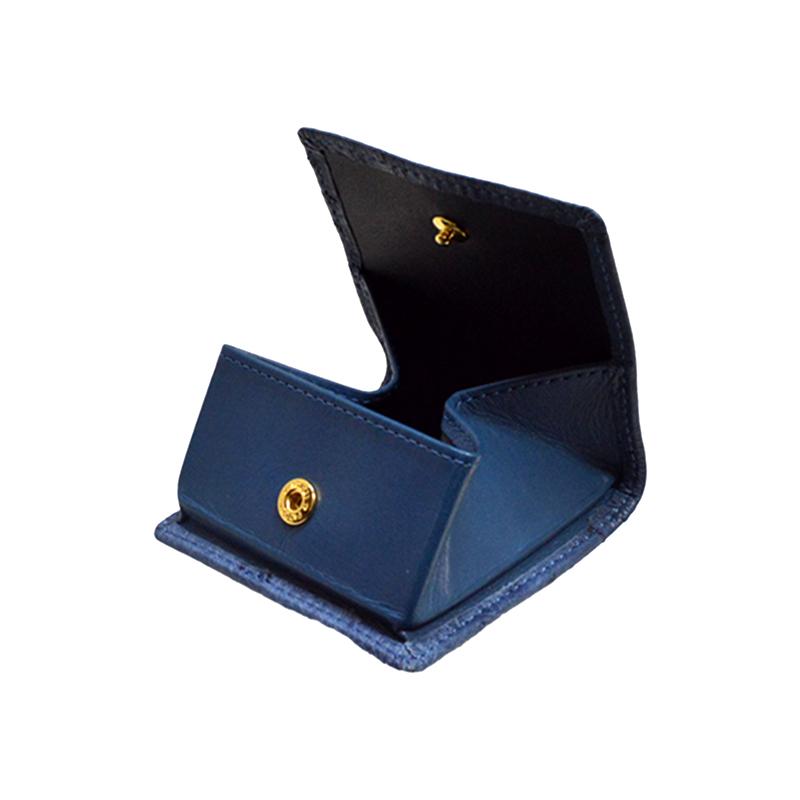 オーストリッチ Boxタイプコインケース ブリーゲートブルー ※こちらの商品は会員登録時に付与されるポイントのご利用はできません。
