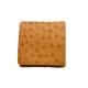 オーストリッチ Boxタイプコインケース チェスナット ※こちらの商品は会員登録時に付与されるポイントのご利用はできません。