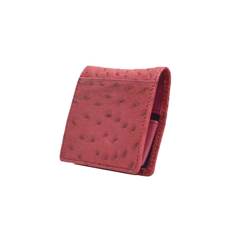 オーストリッチ Boxタイプコインケース カンパリ ※こちらの商品は会員登録時に付与されるポイントのご利用はできません。