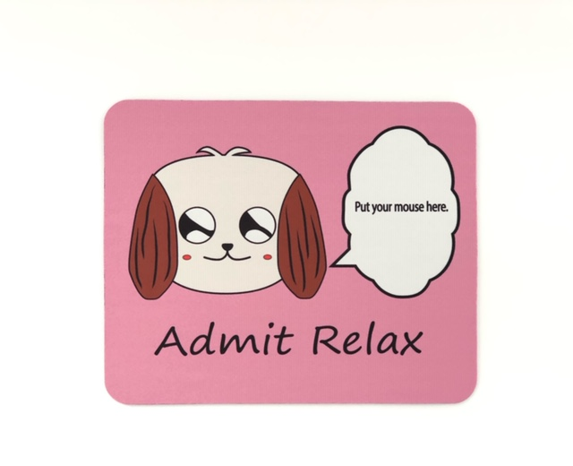 Admit Relaxマウスパット ピンク
