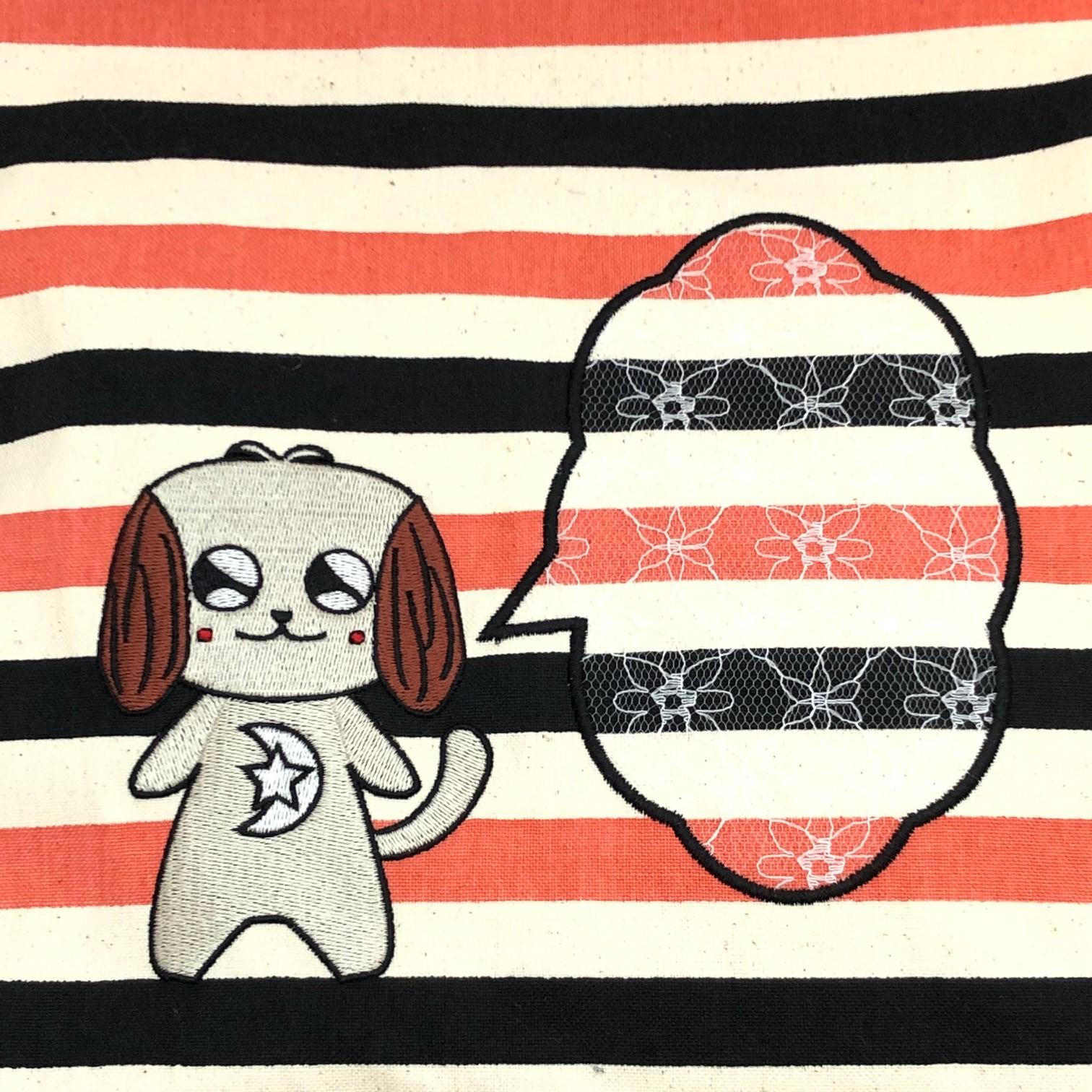 Admit RelaxキャンバストートHANAの刺繍柄