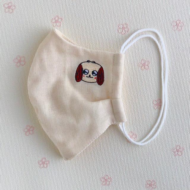 【送料一律350円】ダブルガーゼマスク HANAの刺繍入り