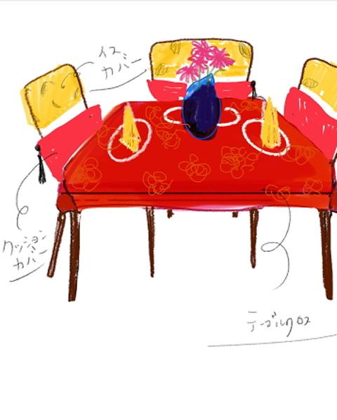 ジャカール・フランセ *テーブルランナー*