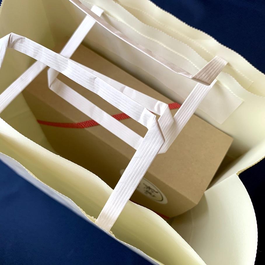お米の手土産ギフトk(2合4個) クラフト紙袋