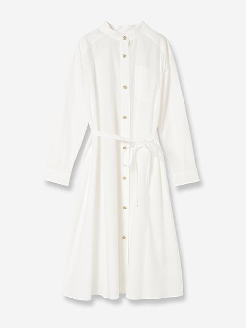バックボタンシャツドレス