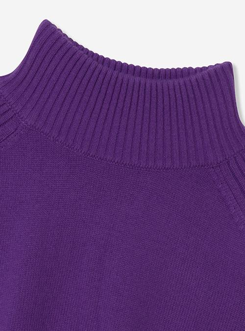 ウールカシミヤハイネックセーター