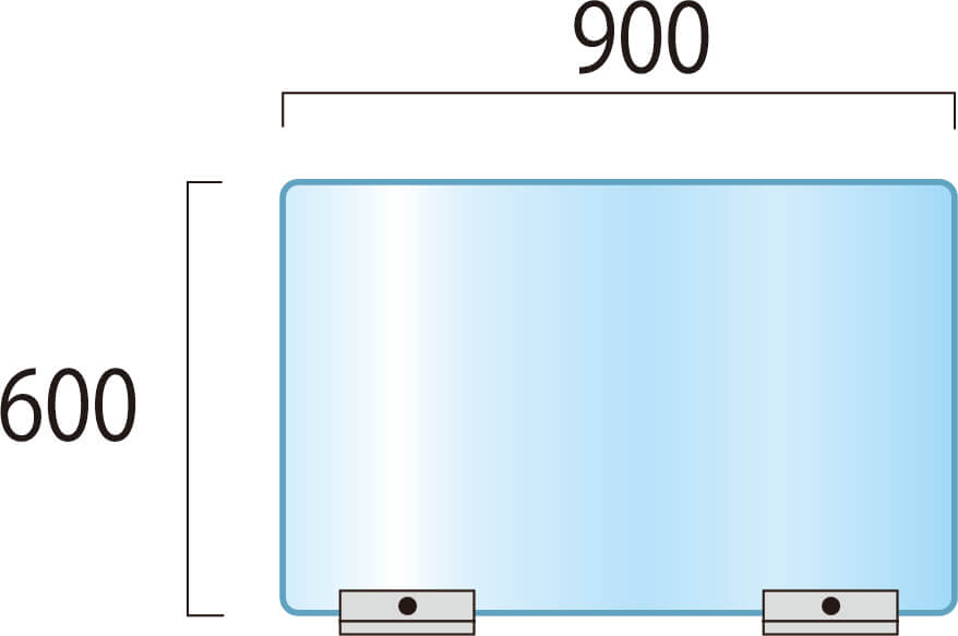 アクリルパーテーションW900×H600mm