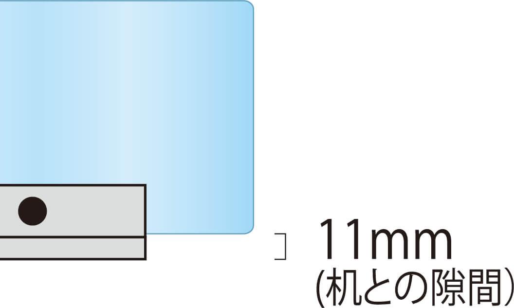 アクリルパーテーションW900×H600mm(窓付)
