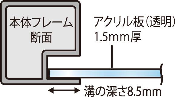 パーテーションスタンドMidタイプW936×H615mm(H130mm空)