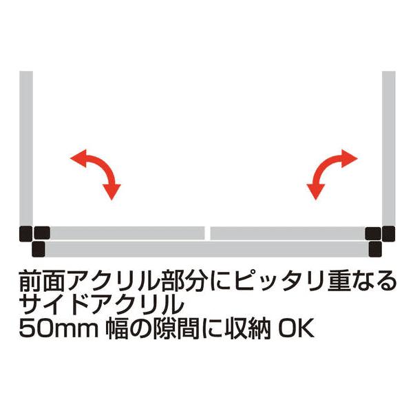 パーテーションスタンド3面MidタイプW936×H610×D460mm_2枚(H125mm空)