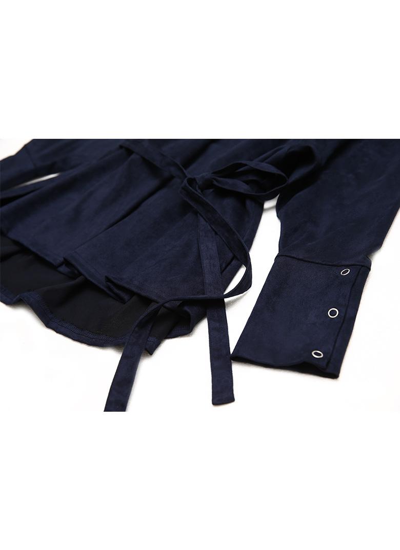 Shoulder tuck suede tops
