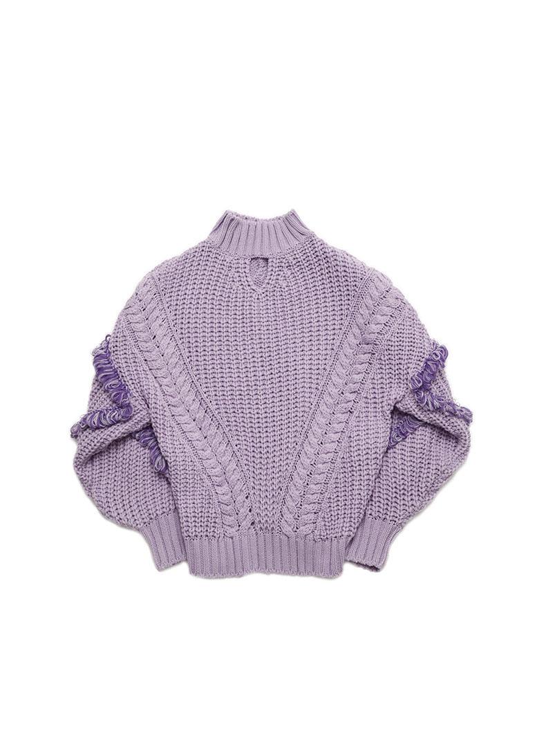 Loop fringe knit