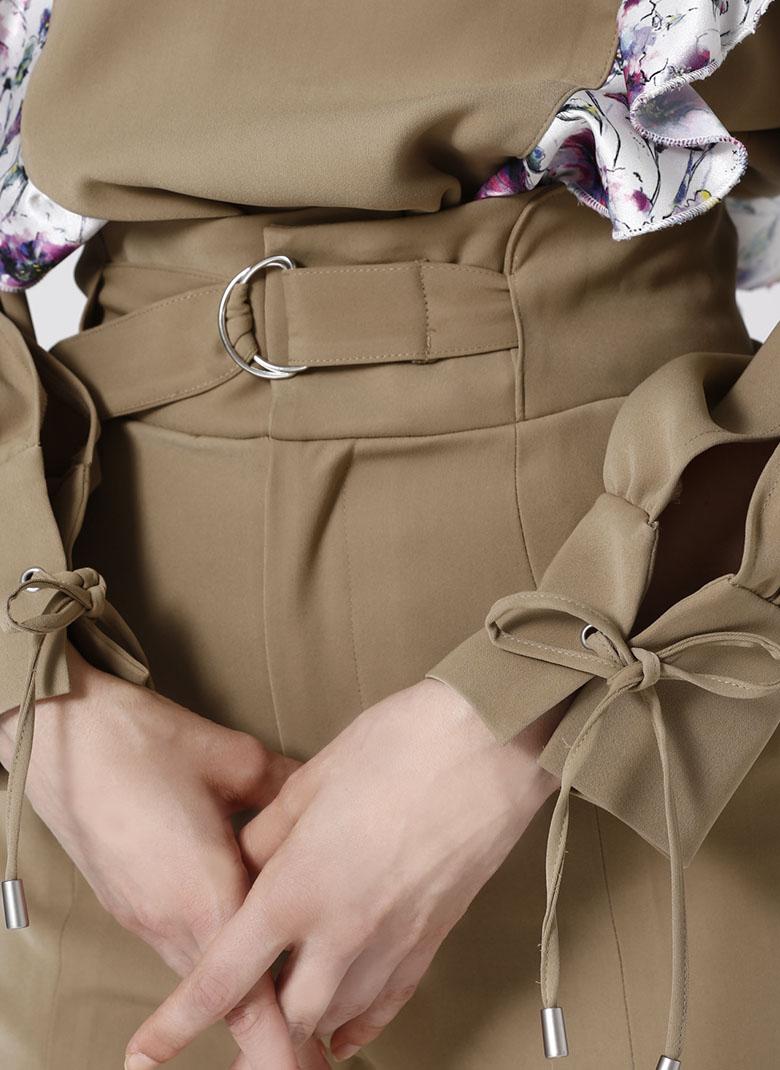 Panel print pants