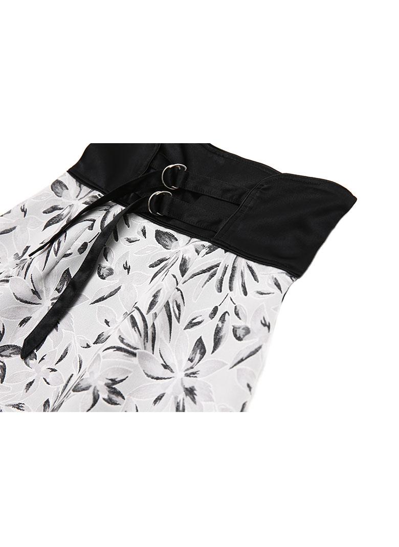 Corset belt Jacquard skirt