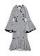 Hem flare piping knit dress