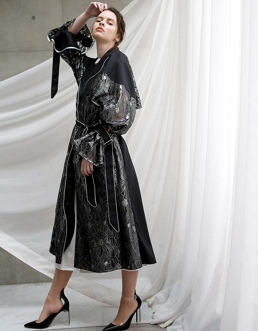 【予約】Metal race trench coat