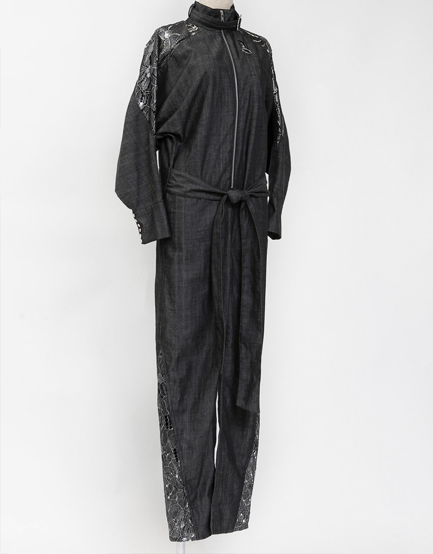 【予約】Metal race denim jumpsuit