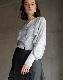 Jacquard open arm blouse