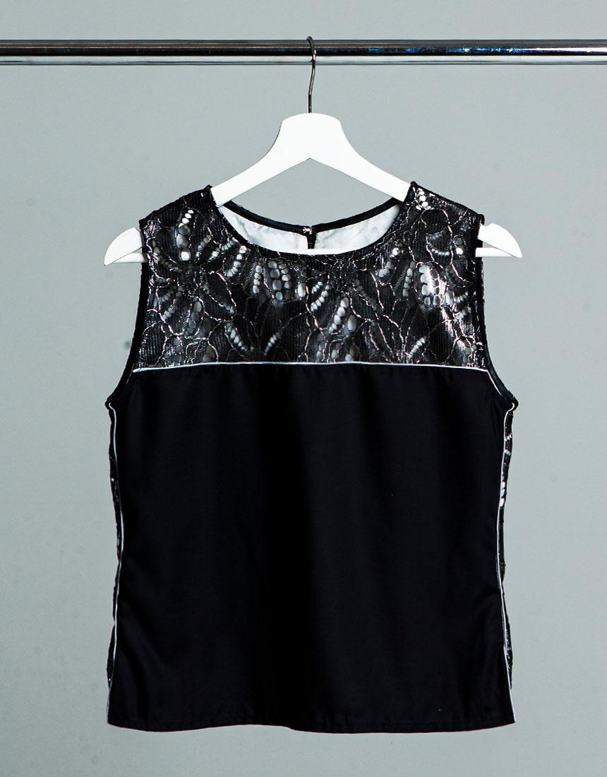 Metal race no sleeve  blouse