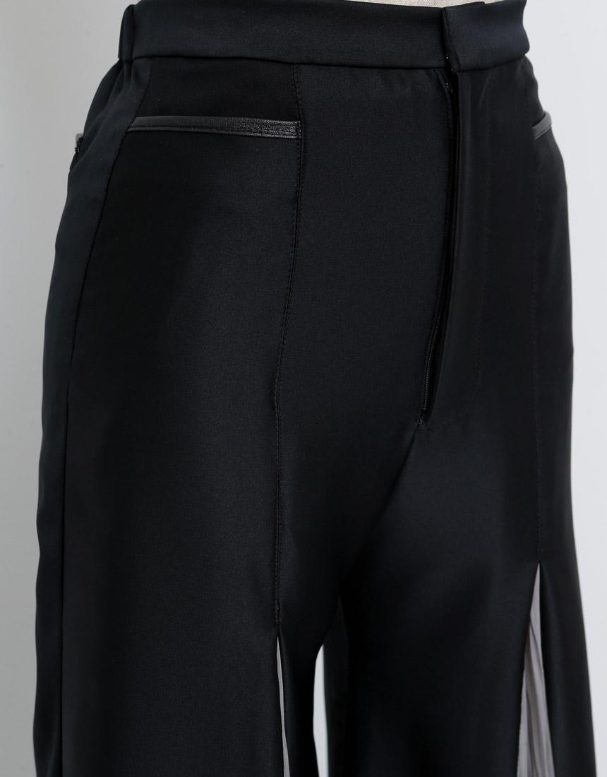 Center pleats pants