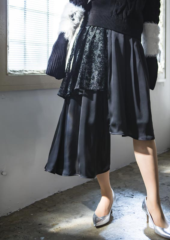Asymmetry blocking skirt