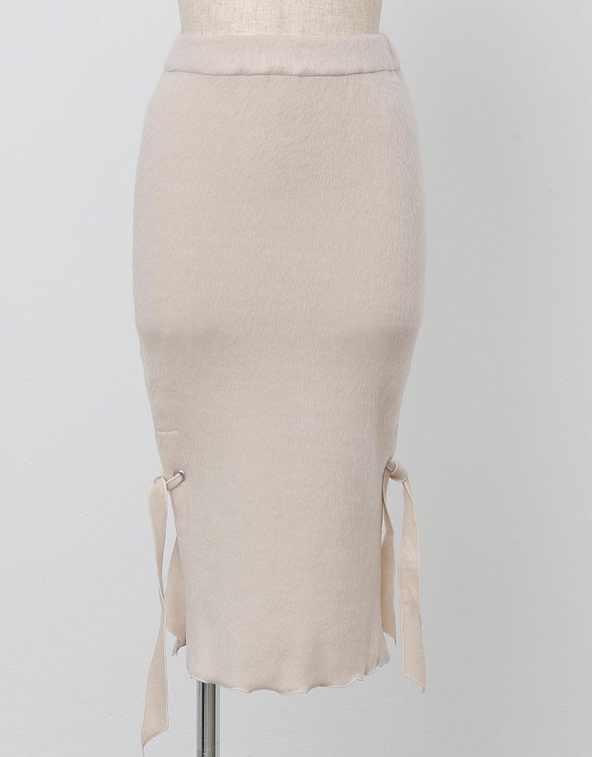 【再入荷】Side slit knit skirt
