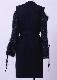 Shaggy arm cut knit dress