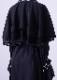 Chiffon layered race trench coat