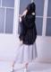 Shirring bowtie blouse