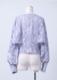Cut jacquard open arm blouse