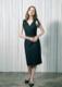 Shoulder ribbon tight dress