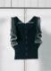Frill sleeve rib knit
