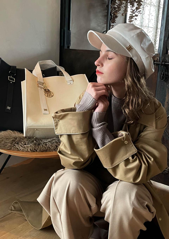 【受注販売】Riu synthetic leather casquette